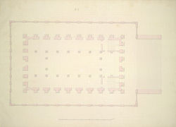 Plan of this Building at the floor level of the Great Room